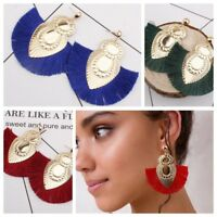 Vintage Charm Ladies Bohemian Fringe Boho Long Tassel Hook Drop Dangle Earrings