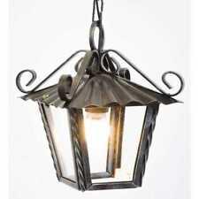 Lanterna lampada lampadario da esterno interno in ferro battuto e catena 21 x 21
