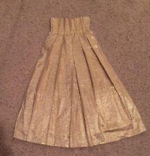 Gold Women's Dress Skirt Bottom