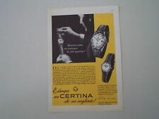 advertising Pubblicità 1958 OROLOGIO CERTINA CALENDAR