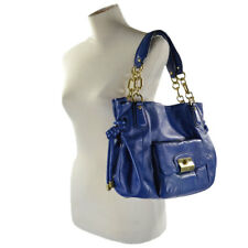 NEW Coach Kristin Leather Satchel Tote Bag 14758 Midnight Blue