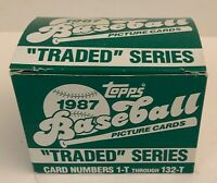 1987 Topps Traded Baseball Series Set Cards 1-T - 132-T ~ NIB Greg Maddux Rookie