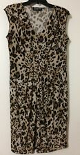 Jones New York Sleeveless V-Neck Leopard Print Women's Medium Dress