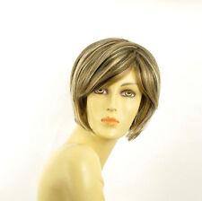 Perruque femme courte blond clair méché cuivré chocolat  LANA 15613H4