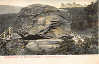 Boulder Rock & Hotel Kaaterskill, Catskill Mountains, NY, Early Postcard, Unused