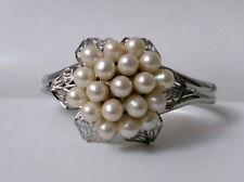 Süßwasser Perlen Armspange Armreif Armband Weiße Blüte White Blossom Braut Brida