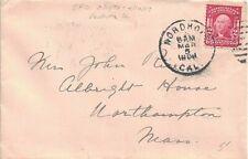 1908 Nordhoff, California Duplex Cancel on a Cover to Northhampton, MA -- DPO ~