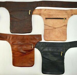 Organic Leather Hip Bag Bumbag Fanny Pack Holster Money Belt Purse *HANDMADE*