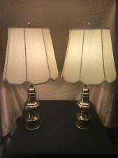 Vintage Stiffel Regency Brass Lamps W/Shades