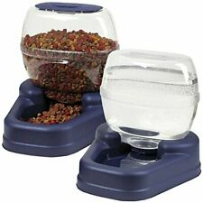 Pet Feeder Food Dispenser Automatic Waterer Water Dog Cat Dish Bowl Combo Pack