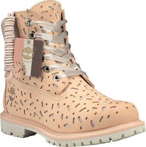 "TIMBERLAND 6"" Women's Premium Boot Waterproof Light Beige Nubuck"