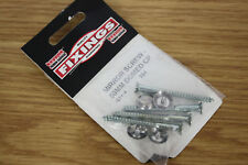 "Packet of 4 x 50mm (2"") Mirror Glass Screws With Screw In Chrome Dome Head"