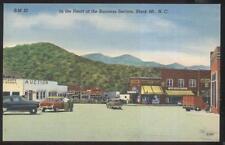 Postcard BLACK MT NC  Drug & Hardware Stores & Auction House 1930's