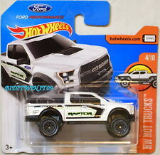 HOT WHEELS 2017 HW HOT TRUCK '17 FORD F-150 RAPTOR WHITE SHORT CARD