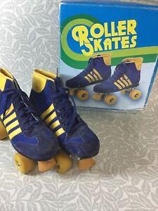 Retro Unisex Blazer Roller Skates Blue & Yellow UK Size 7 in Original Box