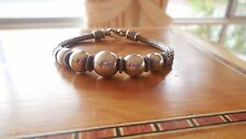 Vintage Sterling Silver Serpentine Ball Bracelet, stamped 925 and a heavy 28.11g