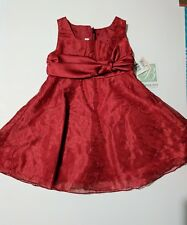 Toddler girl fancy red party dress 2 T Bonnie Jean boutique