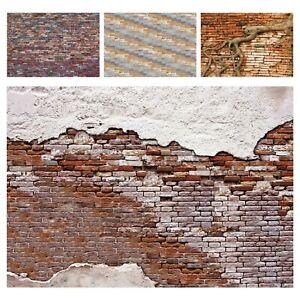 Fototapete Steinoptik Ziegel Mauer Wand Backstein Stein Wohnzimmer Tapete XXL 2