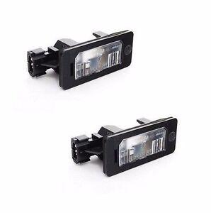 For BMW E39 E60 E61 E90 E91 E92 335i 528i 535i License Plate Light Set Of 2 OEM