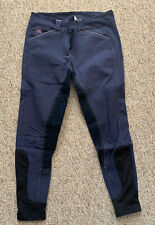 Gently Used - SmartPak Piper Breeches - Navy & Purple Full Seat - 28R
