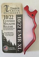 RUGER 10/22 XL EXTENDED MAGAZINE RELEASE LEVER ANODIZED RED - 10/22 EMR XL