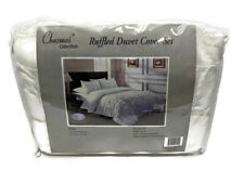 Chezmoi Collection Ella Shabby Chic Ruffle Duvet Cover Set White Twin
