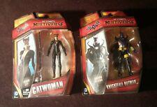 SET OF DC COMICS MULTIVERSE ARKHAM CITY CATWOMAN & KNIGHTFALL BATMAN Mattel