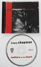 TRACY CHAPMAN Matters Of The Heart CD album Eur 1992 Elektra (Disc NM/M)