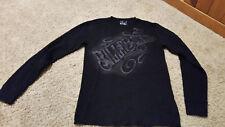 BILLABONG Long Sleeve Logo T-Shirt Mens Size S Black Gray Surf Ski VERY NICE!