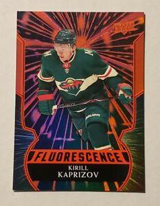 2020-21 Upper Deck Series 2 Kirill Kaprizov Rookie Fluorescence Red #F-KK
