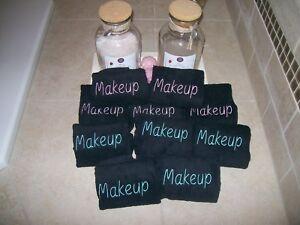 Black Makeup Remover Washcloths- Set of 10