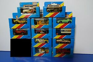 Matchbox 80's MODEL CARS -BOXES OPENED OR DAMAGED -YOU PICK YOUR CAR