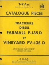 McCormick International Harvester France Tractor Farmall F135 & FV135D Manual