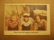"""1959 Fleer Three Stooges Trading Cards #77 EX """"Where Has That Doggone Dog Gone?"""""""
