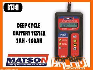 MATSON BTJ41 DEEP CYCLE INTELLIGENT ELECTRONIC BATTERY TESTER 2AH - 200AH
