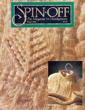 Spin-off magazine winter 1989: karakul rug~cashmere silk scarf~wool rug~afghan