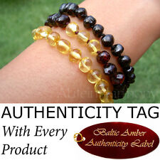 BALTIC AMBER ADULT BRACELETS - 3x RARE Colours - Natural Health Beads