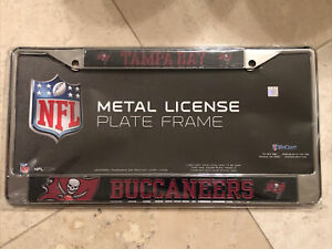 Tampa Bay Buccaneers Black & Red Metal License Plate Frame Cover By Win craft
