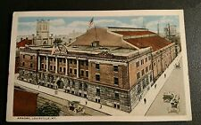 Vintage LOUISVILLE KENTUCKY Postcard ARMORY circa 1910 Cars Flags SUPER Shape!