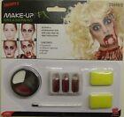 Vestito per Halloween Zombie Make Up Set Pittura Viso SANGUE Spugne Da Smiffys