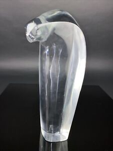 Ltd Edition BACCARAT PENGUIN Clear Glass Sculpture - Signed By Artist - R Rigot