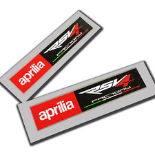 Aprilia Racing style RSV4 FACTORY Motorcycle graphics stickers rectangle  x2 PCS