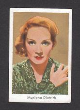 Marlene Dietrich Vintage 1930s German Cigarette Card E Blonde