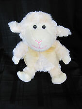 COMMONWEALTH STUFFED PLUSH SWIRL FUR LAMB SHEEP SHEER GOLD BOW CREAM IVORY 2010