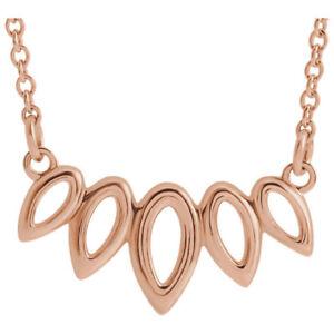 """Leaf 16-18"""" Necklace In 14K Rose Gold"""