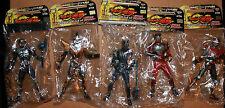 "Masked Rider Kamen Ryuki Figures x 5 2002 Japan Banpresto 6"" Tall"
