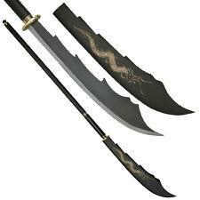Oriental Naginata Oadchi War Sword w Dragon on Blade Sword #667