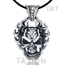 Skull Pendant Necklace (Np134A) T&T 316L Stainless Steel