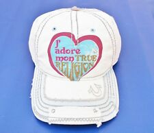 NEW TRUE RELIGION J'ADORE MEN WOMEN TRUCKER HAT OFF WHITE CAP UNISEX TR1486