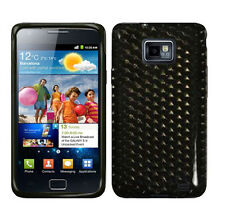 Housse étui Coque TPU GEL Silicone Samsung Galaxy S2 GT-i9100 Diamond noir Fumé